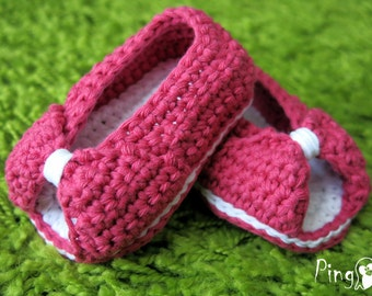 Crochet Baby Slippers Pattern, Mini Princess Slippers, Crochet Baby Booties, Crochet Slippers, Sizes: 0 to 12 months, PDF Instant Download