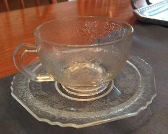 1930's Hazel Atlas Florentine #1 cup and saucer