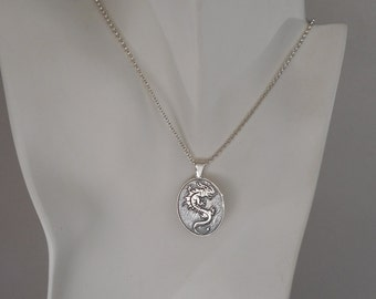 Sterling Silver Dragon Pendant Chinese Zodiac Year of Dragon Made in Montana Men's Dragon Necklace Women's Dragon Jewerly
