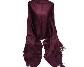 Pashmina Collection-Premium Quality Viscose Pashmina Shawl- Satin Finish-Pashmina -Shawl- Scarf- Wrap-Soft-Warm-Made in India