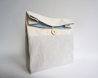 Lunch Bag - striped natural colored