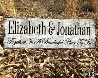 Sign, Name Sign, Personalized Name Sign,Custom Name Sign,Gift, Gifts And Mementos,Signs, Custom Wood Sign.Wedding Sign,Family Name Sign