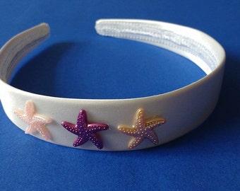 White Starfish Alice band.