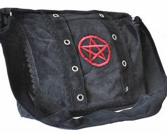 PANTAGRAM  Shoulder BAG Velvet GOTH