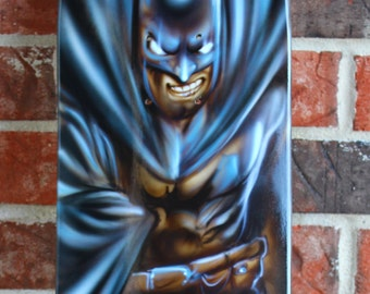 Batman skateboard Custom Painted Skate Deck Skateboard Graffiti Comic Art