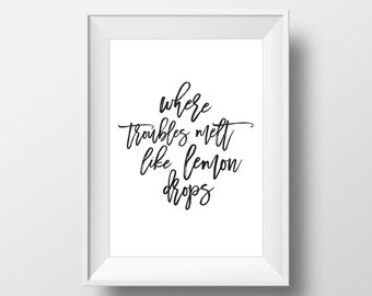 Lemon Drops - Typography Digital Print