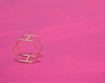 "The ""Roxanne"" Double Band Geometric Stackable Ring"