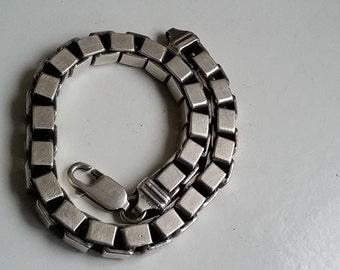 silver Venetian box bracelet 50g