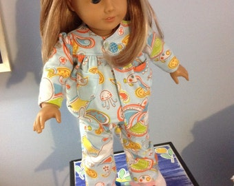 """American girl flannel pajamas fit 18"""" doll"""
