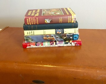 Vintage Group of Books - Group of Five Hardback Books - 5 Display Books - Retro Books - Instant Collection - Stack of Vintage Books