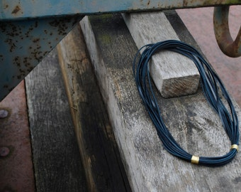 Genuine leather necklace