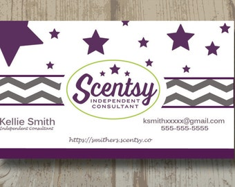 AUTHORIZED SCENTSY VENDOR Scentsy Business Cards Digital Upload Or Printed One Sided Business Card