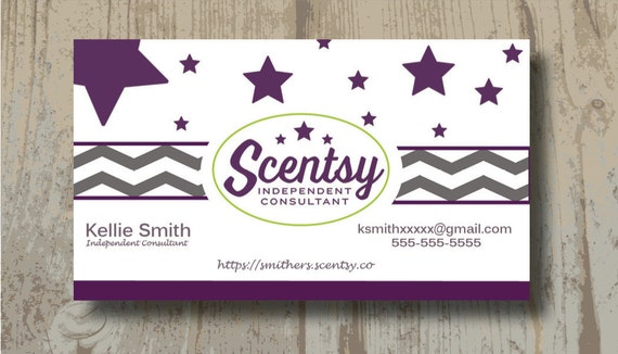 AUTHORIZED SCENTSY VENDOR Scentsy Business Cards Digital