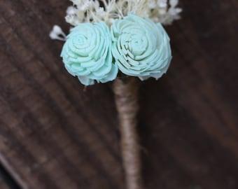 Light Mint green Boutonniere