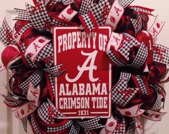 University of Alabama Wreath Bama Wreath Crimson Tide  Deco Mesh   **MADE TO ORDER***