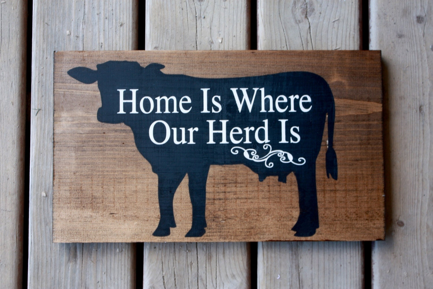 Farm sign decor cow farmer dairy beef home is where for Sign decoration