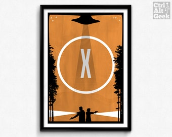 I Want To Believe // X-Files, Mulder & Scully, Fox Mulder Print, X-Files Poster, X-Files Print, David Duchovny, Gillian Anderson Poster