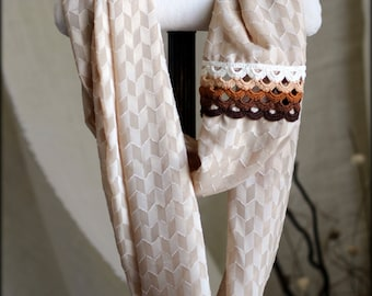 Brown scarf, Skinny infinity scarf, brown scarf for girls, Fall scarfs, Crochet scarfs for girls, Christmas holiday gifts, brown accessory