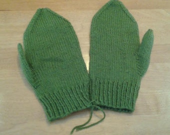 Hand Knitted Mittens, Mens