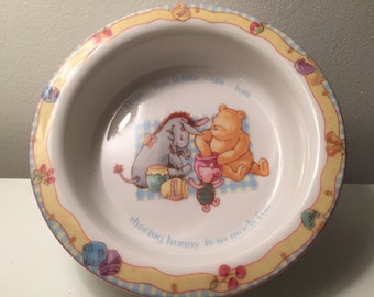 Winnie the Pooh Royal Dalton Bowl with Eeyeore & Piglet