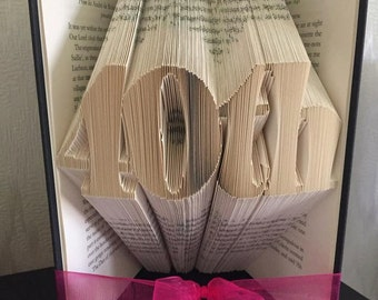 Book folding art pattern for a 40th Birthday / Anniversary