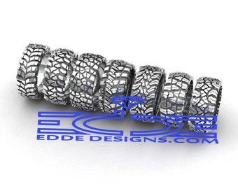 Silver Tread Ring by Edde Designs