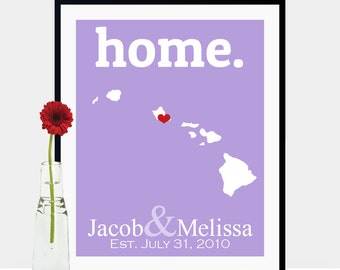 Hawaii Wedding Gifts for Guests, Wedding Gifts for Couple, Wedding Gifts for Bridesmaids, Custom Wedding Gifts for Dad -Any State or Country