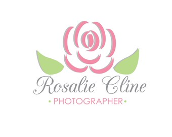 Flower Logo; Pale Pink + Green;  Ready to Customize
