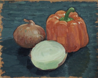 Onion and Pepper Still Life