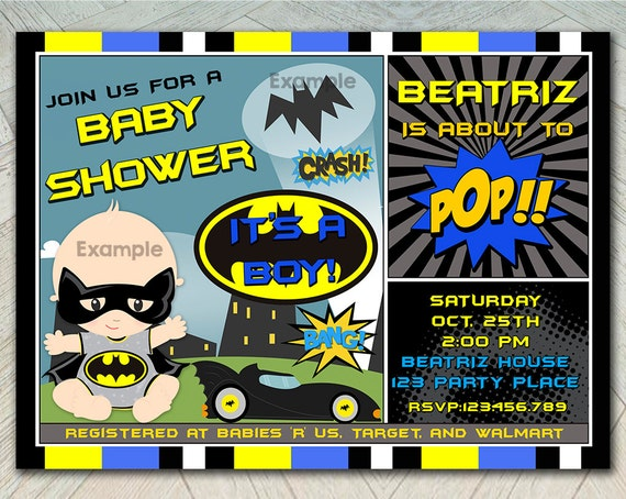 baby shower batbaby baby bat invite baby shower invitation