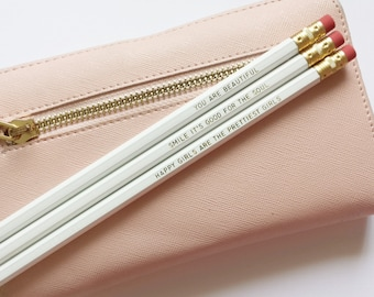 XO Range - Gold Foil Pencil Set by Prettier Paper