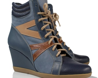 Tara Wedge Ankle Boots
