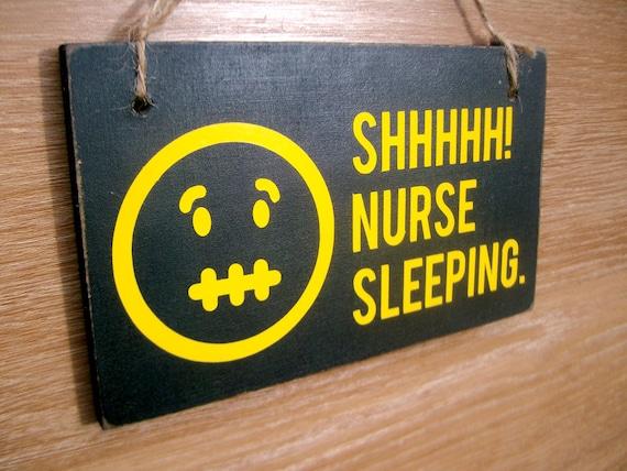 Items Similar To Shhhhh Nurse Sleeping Door Sign Do Not