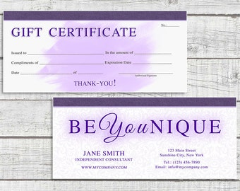 Younique Inspired Gift Certificate V2 - Gift Voucher - Digital Download - Printable Gift Certificate - Printable