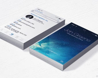 iPhone Business Cards - 3.5x2 Inches - Design and Printing - 16PT UV - 250, 500, 1000, 2500 | FREE Shipping |