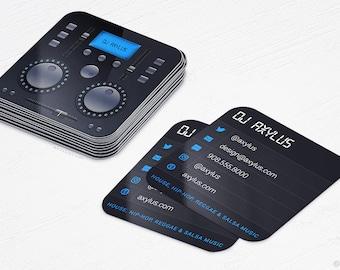 Premier DJ Business Cards Mini Cards MusicRecord Design