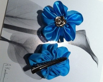 Flower alligator clips, baby hair clips