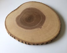 Vintage Real Genuine Natural Rustic Wooden Tree Trunk Slice Slab Cutting / Serving Board or Tray