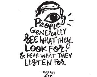 "Harper Lee Quote // Original Artwork // Digital Print // Literary Art // Typography // Harper Lee // ""GENERAL PEOPLE"""
