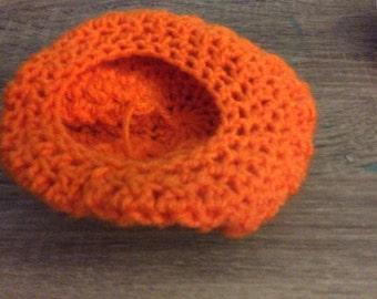 Mandorin Orange Baby Hat