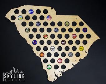 Beer Cap Map USA US Beer Bottle Cap Map Craft Beer Map Cap