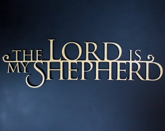 The Lord is My Shepherd Wooden 3D Wallhanging - Psalm 23 - Bible Verse Wallhangings