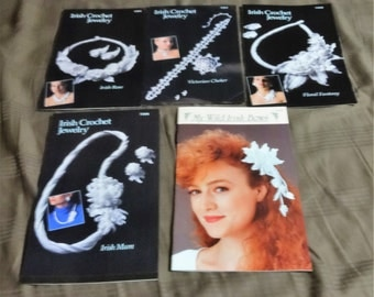 6 Annie's Attic Irish Crochet Jewelry Books Beautiful Jewelry