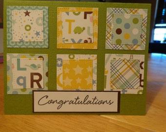 Congratulations blank card