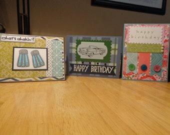 Handmade bundle of five greeting cards