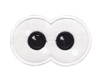 Halloween Eyes Applique Design 7 Machine Embroidery Design 4x4 5x7 6x10