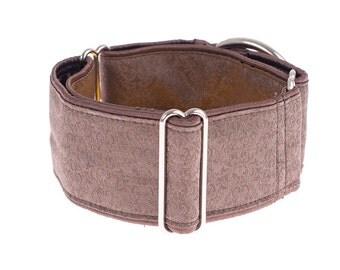 Brown martingale collar, martingale collar, dog martingale collar, collars, 2 inch, dogs