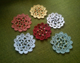Crochet star with beads