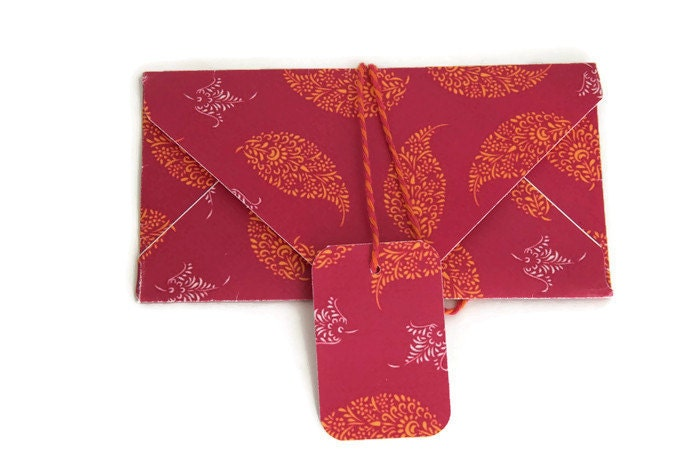 Wedding Gift Envelope India : Pink envelope set of 10 indian wedding favor money