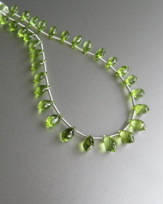 Peridot Chandelier Briolettes 8x4 5 To 9x5 Mm Aaa Micro